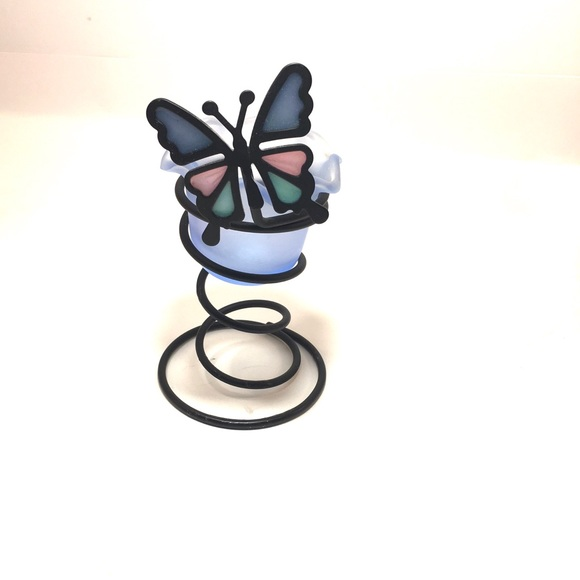Butterfly Votive Holder 2pc spiral candleholder